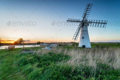 Sunset at Thurne Windmill