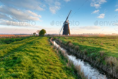Halvergate Windmill near Great Yarmouth