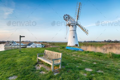 Thurne Mill on the Norfolk Broads