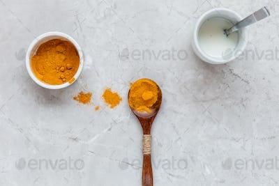 Making Golden Turmeric Milk in Kitchen