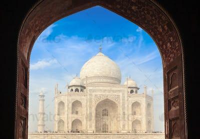 Taj Mahal through arch, Agra, India