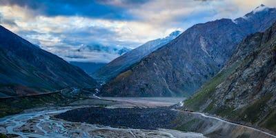 Manali-Leh road in Lahaul valley in the morning. Himachal Prades