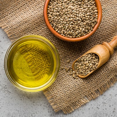 Hemp essential oil and seeds