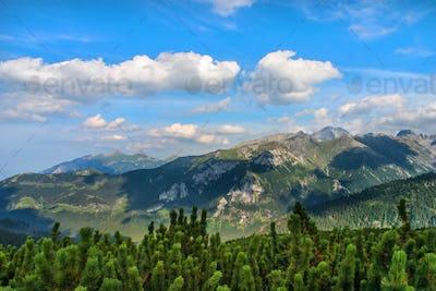 Mountain landscape. High Tatras, Poland.