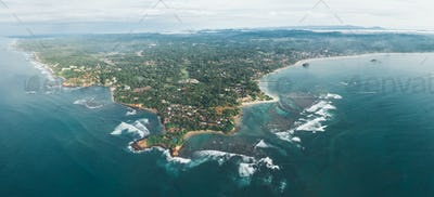 Panorama of weligama bay in Sri lanka