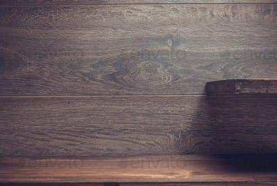 wooden shelf on brown