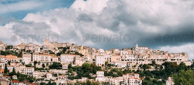 Monte San Biagio, Italy. Top View Of Residential Area. Cityscape