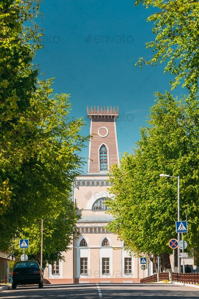 Chachersk, Gomel Region, Belarus. Famous Landmark - Old City Hal