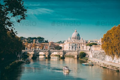 Rome, Italy. Papal Basilica Of St. Peter In The Vatican. Sightse