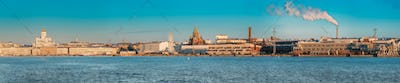 Helsinki, Finland. Panoramic View Of Helsinki Cathedral, Preside