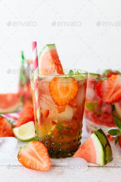Strawberry and water melon lemonade
