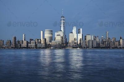 Manhattan at dusk, New York.