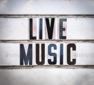 Retro Live Music Sign