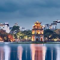 Old quarter of Hanoi at dusk