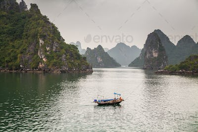 The beautiful Ha Long Bay in Vietnam