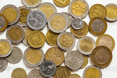 Old coins of different nationalities