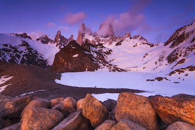 Scenic view of Mount Fitz Roy. Patagonia. Argentina.