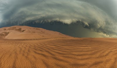 Thunderclouds in the desert
