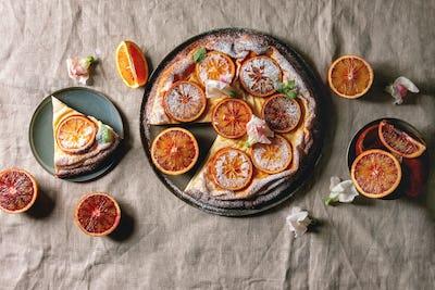 Cake with blood orange