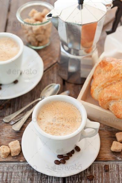 Cups of fresh coffee