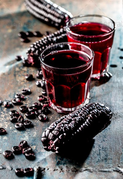 Peruvian Purple Corn Drink. Chicha morada purple sweet traditional peruvian corn drink