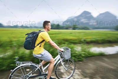 Trip by bike in Vietnam