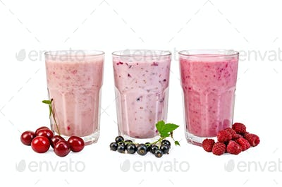 Milkshake with a plums and watermelon