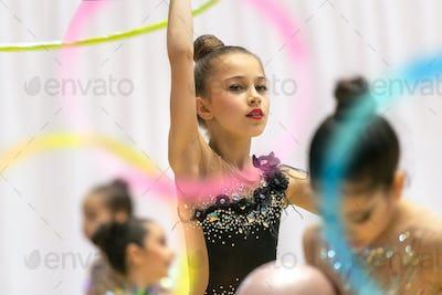 Rhythmic gymnastics performance