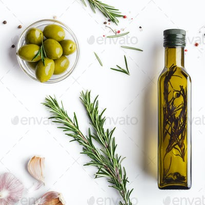 Homemade olive oil concept