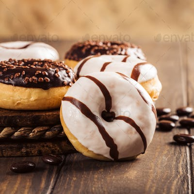Glazed mini donuts