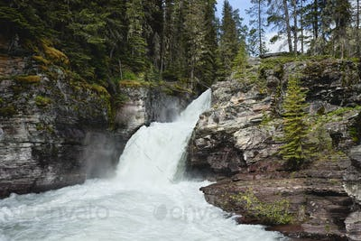 St Mary's Falls in Glacier National Park