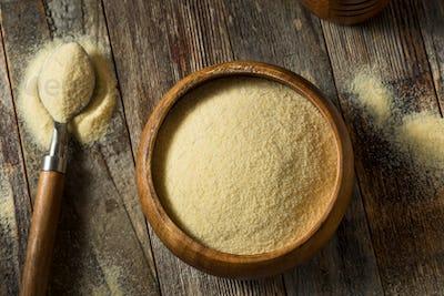 Dry Organic Semolina Durum Flour