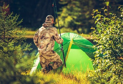 Fly Fishing Camp in Wilderness