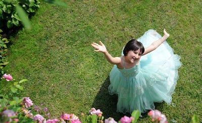 little princess in the garden