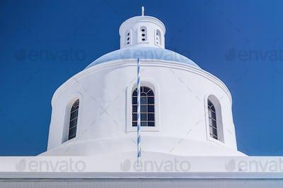 Santorini Greece. Church of Panagia Platsani