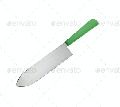 Big knife isolated on white