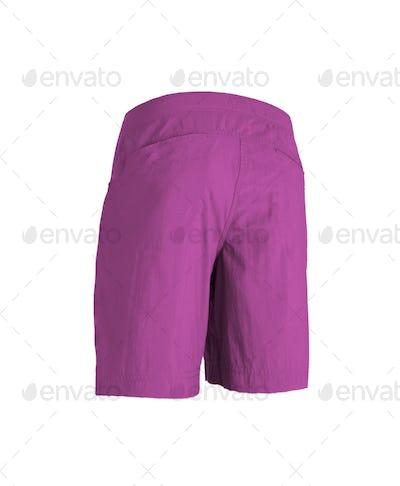 pink shorts isolated on white background