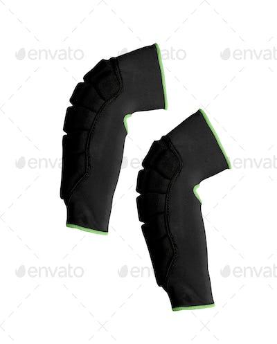 Knee-cap bondages isolated on white
