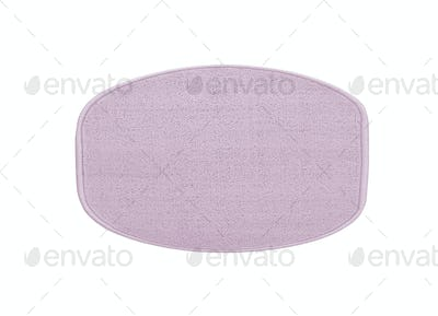 Violet bath rug isolated on white