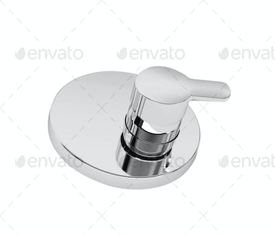Shiny Shower Water Switcher Isolated on White Background