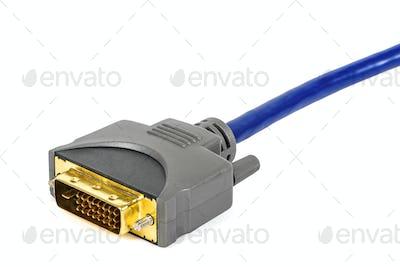 DVI plug on white background
