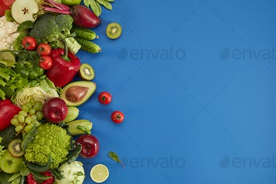 Healthy food dish on black stone background