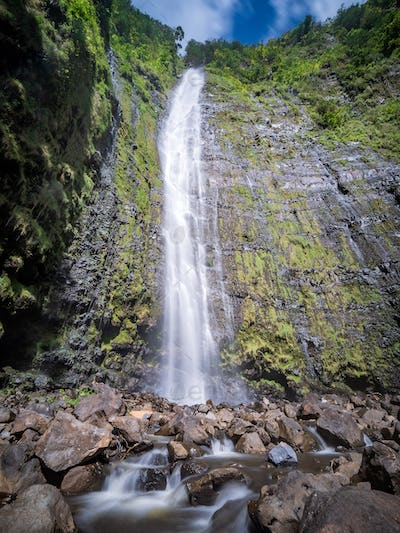 Waimoku Falls is at the end of the Pipiwai trail hike in Maui, H