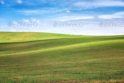 Earth waves background in South Moravia