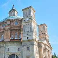 Vicoforte church in a sunny summer day in Italy