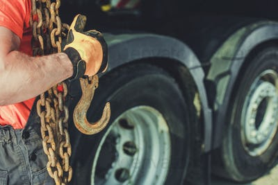 Trucker with Chains and Hook