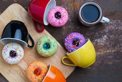 Colorful fancy donut