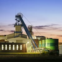 Salt Mine At Dusk