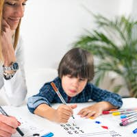 Psychology Test for Children - Toddler Doing Logic Test with Numbers