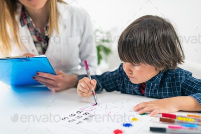 Psychology Test for Children - Toddler Coloring Shapes